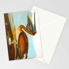 Brown Pelican Illustration Stationery Cards