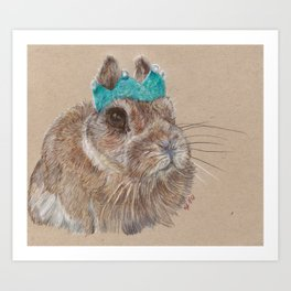 Chester bunny and his crown Art Print