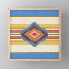 Fiesta Blue Framed Mini Art Print