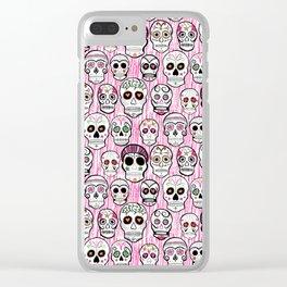 sugar skull tastic Clear iPhone Case