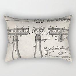 Razor Patent - Barber Art - Antique Rectangular Pillow