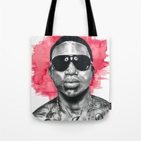 gucci Tote Bags featuring Gucci Mane by Nicola MacNeil