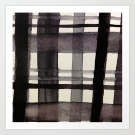Painterly Plaid Art Print
