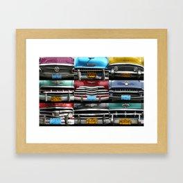 Cuba Car Grilles - Horizontal Framed Art Print