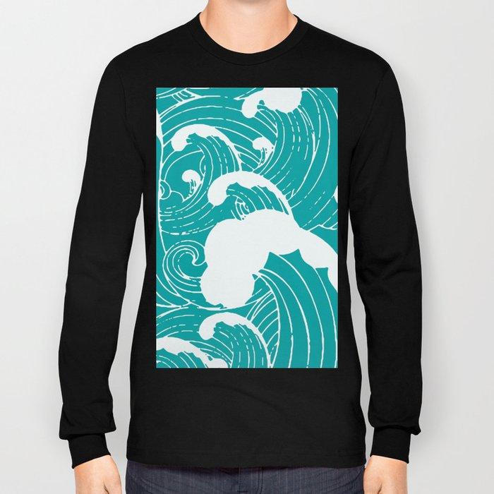 Blue waves Long Sleeve T-shirt