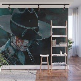 Carl Grimes Shot In The Eye - The Walking Dead Wall Mural
