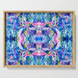 Bathbomb, psychedelic, trip, mushrooms, acid, lsd Serving Tray