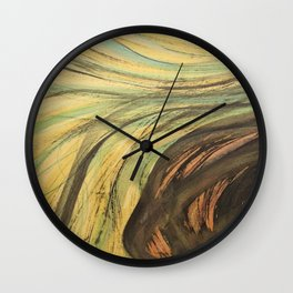Ink & Charcoal #2 Wall Clock