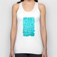 turquoise Tank Tops featuring turquoise by Antracit