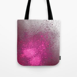 Pink and Grey Spray Paint Splatter Tote Bag
