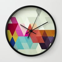 new order Wall Clocks featuring New Order by Three of the Possessed