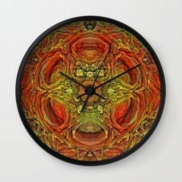 Moldy Holes Pattern Wall Clock