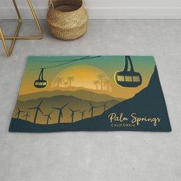 Palm Springs Valley - Sunrise Horizontal Version Rug