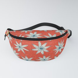 sema fire orange blue Fanny Pack