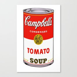 andy warhol campbell's soup can phone case Canvas Print