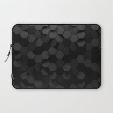 Black abstract hexagon pattern Laptop Sleeve