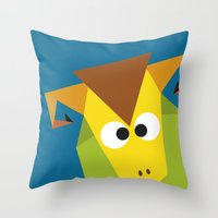 ram Throw Pillows featuring Ram by Fairytale ink