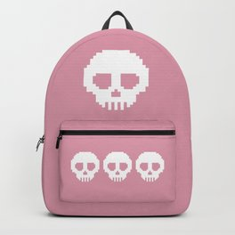 Pixel Skulls - Pink Backpack
