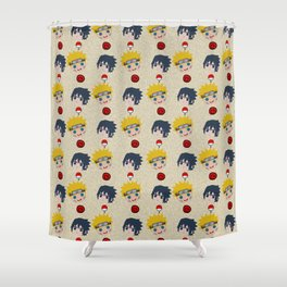 Face Characters Shower Curtain