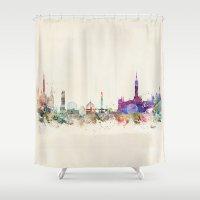 scotland Shower Curtains featuring glasgow scotland by bri.buckley