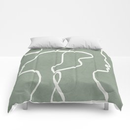 Abstract Faces Comforters