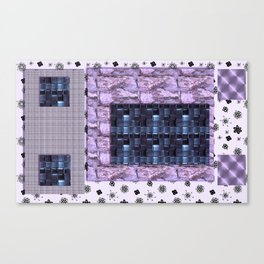 texture for interior decoration purple Canvas Print