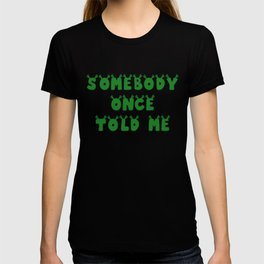 Somebody Once Told Me T-shirt