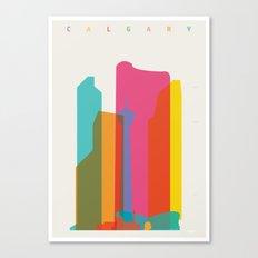 Shapes of Calgary Canvas Print