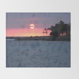 Kona Sunset Throw Blanket