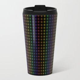 Rows of Rainbow Flowers Travel Mug