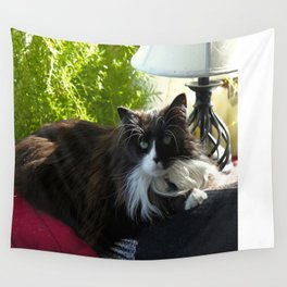 The Feline Queen Reposes (Gracie Queen of Chicago Collection) Wall Tapestry