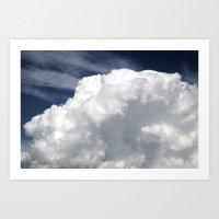 Cumulus Clouds Art Print