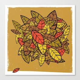 Autumn Memories (a pile of leaves) Canvas Print
