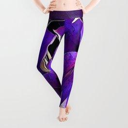 Purple lilies Leggings