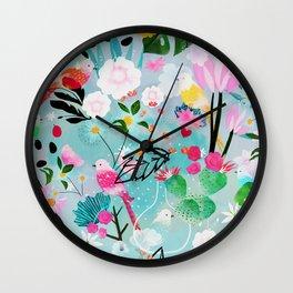 jolly birds Wall Clock