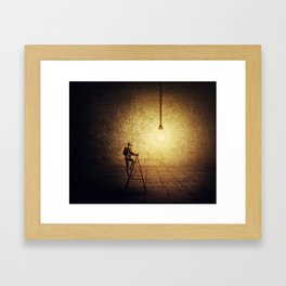 idea achievement Framed Art Print