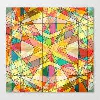 kaleidoscope Canvas Prints featuring Kaleidoscope by Tammy Kushnir