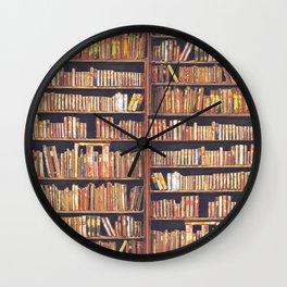 Books, books, books Wall Clock