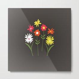 simple bright flowers Metal Print