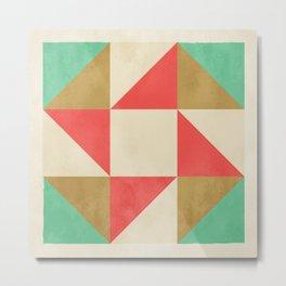 Quilt Block #01 Metal Print