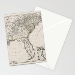 Former British Colonies In the Southern States of the USA Stationery Cards