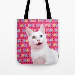 Happy Valentine's Day Kitten Tote Bag
