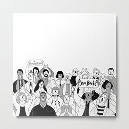 Cheering Crowd Metal Print
