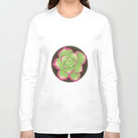 succulent Long Sleeve T-shirts featuring Succulent by j-bott