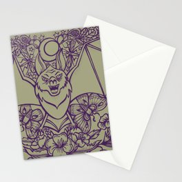Bats, Flowers, Figs and Moths Stationery Cards