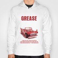 grease Hoodies featuring Grease Movie Poster by FunnyFaceArt