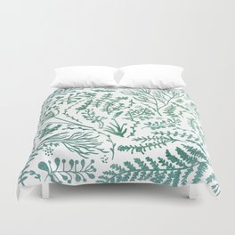 GREEN HERBS Duvet Cover