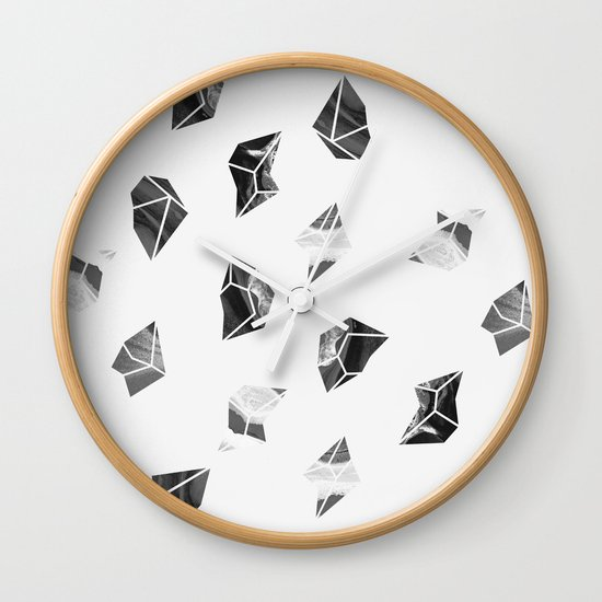 Marble Fragments Wall Clock