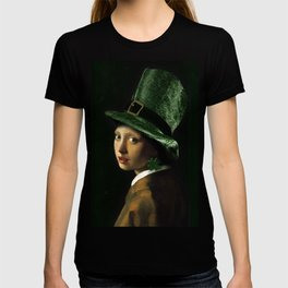 Girl With A Clover Earring T-shirt
