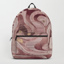 Marble Map - Rose Gold Backpack